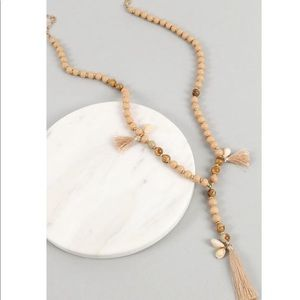 Beads, Tassels, & Shells Y necklace